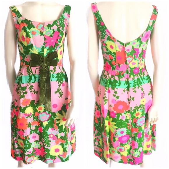 Vintage Dresses & Skirts - 1960's Vintage Floral Dress SZ S